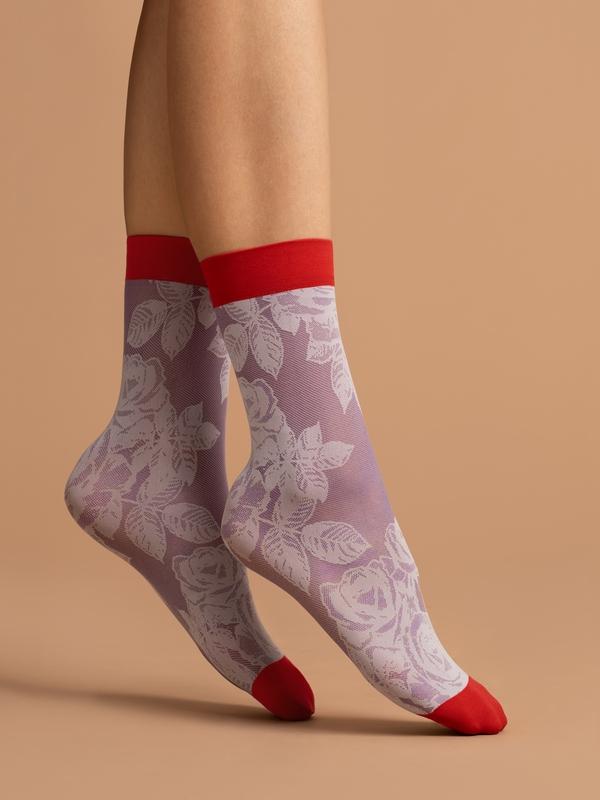 Punčochové ponožky Fiore Red Rose 40 den